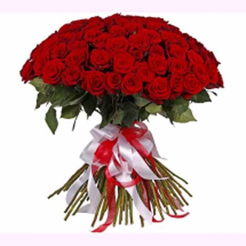 """Букет из 101 розы Гран При """"Ангел страсти"""""""