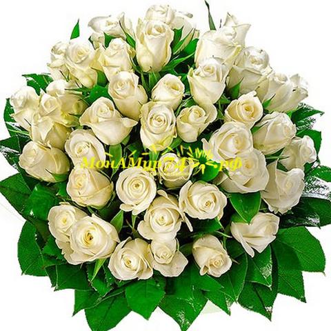 Букет из 55 роз «Принцесса»