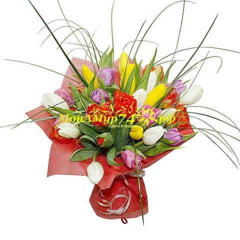 Букет из тюльпанов «Весенняя капель»