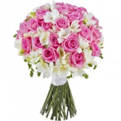 Букет невесты «Леди В Розовом»