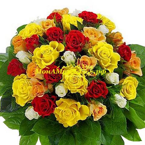 Букет из 55 роз «Обольщение»