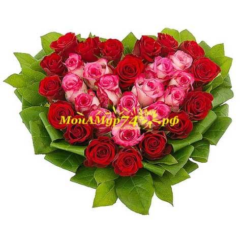 Композиция из цветов «Горячая любовь»
