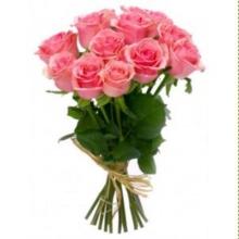 Букет из 15 розовых роз купить в Челябинске