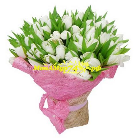 Букет тюльпанов Доставка цветов на дом Челябинск Купить цветы