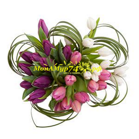 Букет из тюльпанов «Нежность тюльпана»