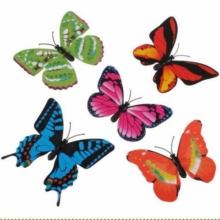 Бабочка декоративная в цветы