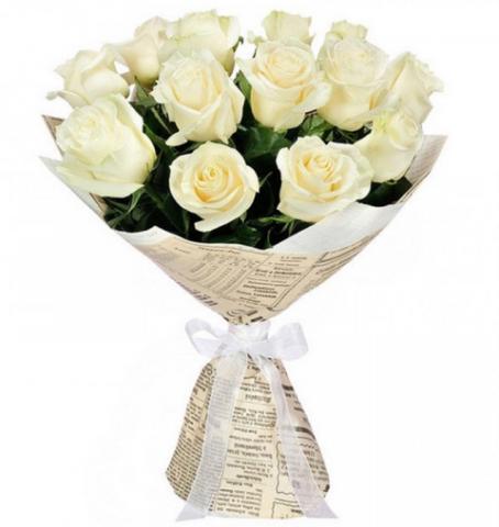 Из белых роз