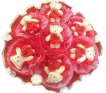 Букет из игрушек «7 медвежат красный»