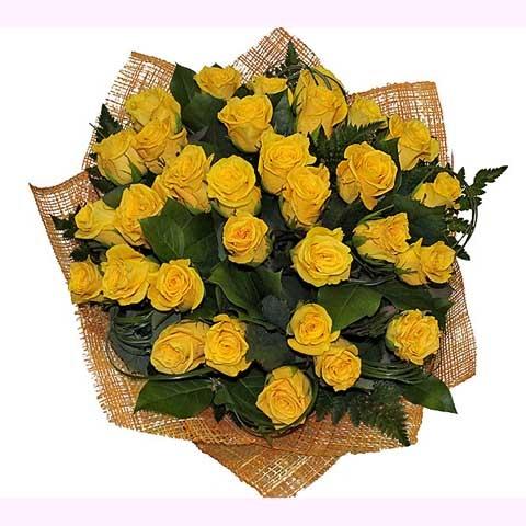 Букет из желтых роз»Любимке»