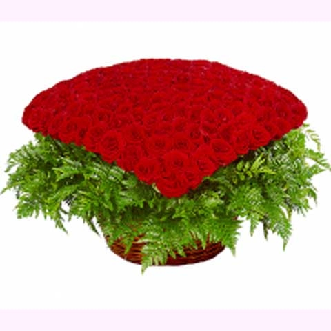 """Корзина из 301 розы""""Любимой"""""""