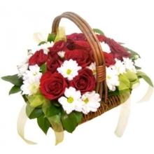 Корзина цветов «Светлый День»