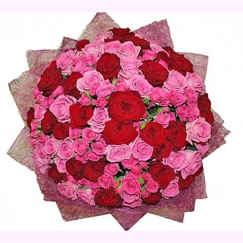 """Букет цветов роз """"Ты и Я"""""""