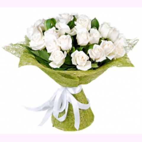 "Букет белых роз ""Волшебное утро"