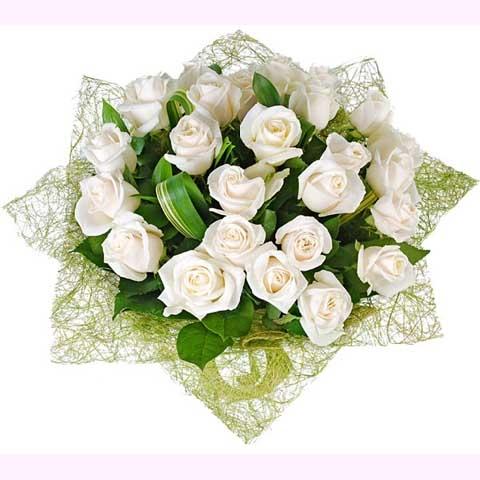 "Букет белых роз ""Волшебное утро"""